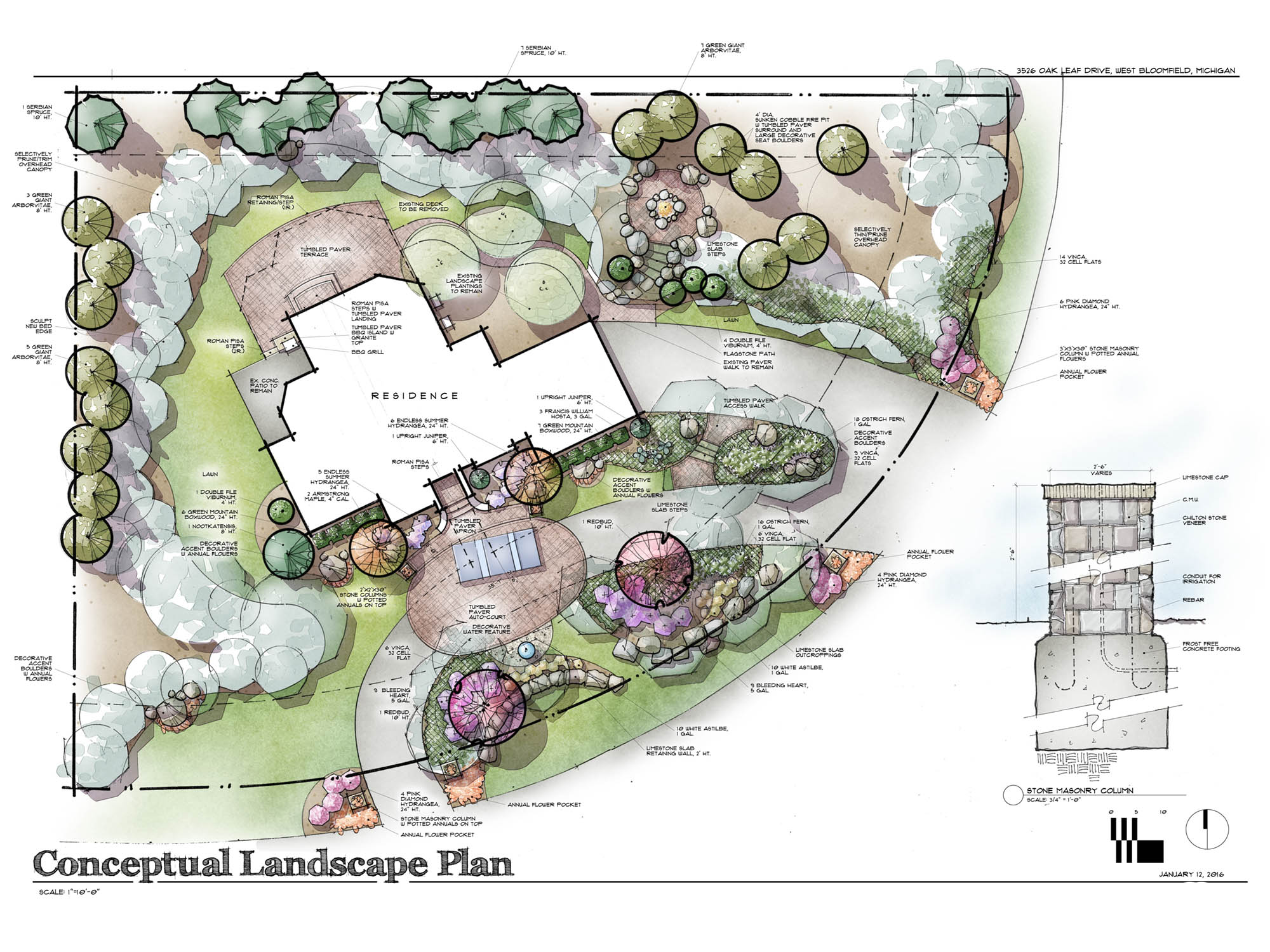 Residential Landscape Design - Pools, Pergolas, Fireplaces, Hardscapes